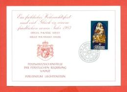AUGURALI-BUON NATALE-BUON ANNO-CRISTIANUSIMO-FUURSTENTUM LIECHTENSTEIN - 1982 - Liechtenstein