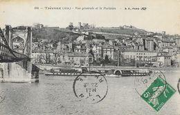 Trévoux (Ain) - Vue Générale Et Le Bateau Le Parisien - Carte B.F. Paris N° 104 - Trévoux