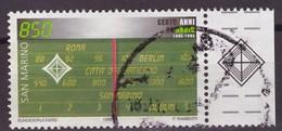 SAN MARINO -  EMISSIONE CONG VATICANO1995 CENTENARIO RADIO USATO - Emissioni Congiunte