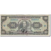 Billet, Équateur, 100 Sucres, 1990-04-20, KM:123, B - Ecuador