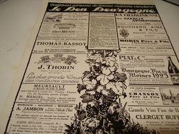 ANCIENNE PUBLICITE BONNE ADRESSE LES MAISONS VENDANT LE VIN DE BOURGOGNE 1929 - Alcohols
