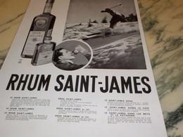ANCIENNE PUBLICITE AU SKI  RHUM ST JAMES 1939 - Alcohols