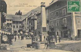 Guillestre (Les Alpes) - La Place Albert, La Fontaine - Edition Fournier - Guillestre