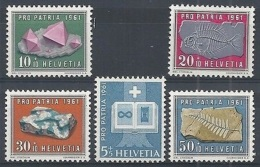 1961 SVIZZERA PRO PATRIA 5 VALORI MNH ** - SZ171 - Nuovi