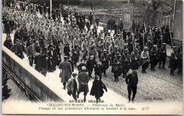 51 CHALONS SUR MARNE - Prisonniers Allemands Se Rendant à La Gare - Camp De Châlons - Mourmelon