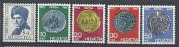 1962 SVIZZERA PRO PATRIA J.J. ROUSSEAU E MONETE MNH ** - SZ173 - Nuovi