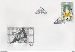 FDC 2017 : Bâtiment De La Librairie Municipale De Prague 1903 Symboles Maçonniques - FDC