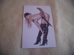BELLE ILLUSTRATION... FEMME SEXY ..DENUDEE...CORSAIRE....SIGNE KEITH GARVEY - Künstlerkarten