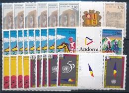 CD-443 :ANDORRE: Lot Avec Stock Trityques** Entre N°443A Et 465A  Pour 22 Euros De Faciale - Französisch Andorra