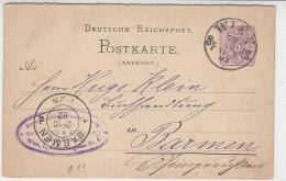 Antwort Ganzsache Aus WIEN 28.10.82 Nach (Wuppertal) Barmen - Briefe U. Dokumente