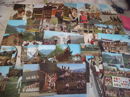 LOT DE 75 CARTES FOLKLORES ETRANGERS ..COSTUMES ..DANSES..ALLEMAGNE..SUISSE..ESPAGNE..AUTRICHE..ETC - Postkaarten