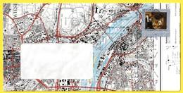 """""""2473 (Yvert) Sur Enveloppe Illustrée Ayant Circulé - Le Pauvre Poète Du Peintre Carl Spitzweg Carte Routière - RFA - [7] West-Duitsland"""