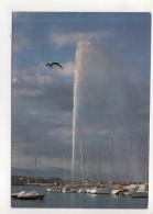 CP 10*15-WY1473-GENEVE LA RADE ET LE JET D EAU 1986 - GE Geneva