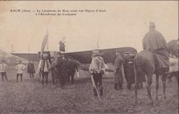 A28 - 32) AUCH (GERS) AVIATION - LE LIEUTENANT DE ROSE AVANT SON DÉPART A  L 'AÉRODROME DU COULOUMÉ - (2 SCANS) - Auch