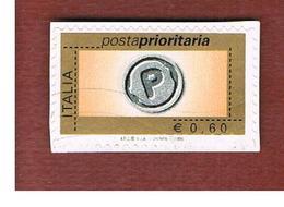 ITALIA  REPUBBLICA -  UNIF. 2983 -  2006  POSTA PRIORITARIA DA EURO 0,60 Con Millesimo 2006  - USATO - 2001-10: Afgestempeld