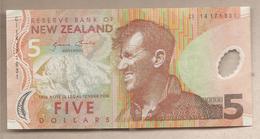 Nuova Zelanda - Banconota Circolata Da 5 Dollari P-185c - 2014 - Nouvelle-Zélande