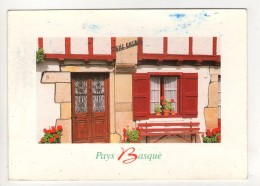 CP 10*15-WY1710-PAYS BASQUE FACADE DE MAISON TYPIQUE - Autres Communes