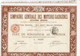 75-MOTEURS GAZOGENES. SYSTEME BENIER. 1895 - Other