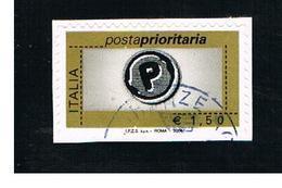 ITALIA REPUBBLICA  -  2004   PRIORITARIA DA 1,50       - USATO ° - 6. 1946-.. Repubblica