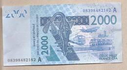 Costa D'Avorio - Banconota Circolata SPL Da 2000 Franchi P-116Af - 2008 - Costa D'Avorio