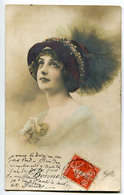 CPA  FEMME Belle Coiffure 1912 - Femmes