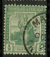 Trinidad And Tobago 1921  1/2p Britannia Issue #12 - Trinidad & Tobago (...-1961)