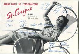 Schweiz - St. Cerque - Grand Hotel De L'Observatoire 60er Jahre - Faltblatt In Postkartengrösse Mit 7 Abbildungen - Reiseprospekte