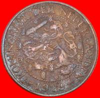 # RAMPANT LION (1913-1931): NETHERLANDS ★ 1 CENT 1919 KEY DATE! LOW START ★ NO RESERVE! Wilhelmina (1890-1948) - [ 3] 1815-… : Kingdom Of The Netherlands