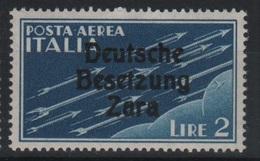 1943 Occupazione Tedesca Zara 1 L.  P.a. MNH2 - Occup. Tedesca: Zara