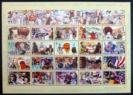 MONGOLIA MONGOLIE 2001 2002 - HISTORY OF HUMANITY - SOUVENIR SHEET BLOCK BLOC FEUILLET SS - RARE MNH - Mongolie