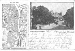 Bremen - Heerdenthorsteinweg U.kleiner Stadtteilplan - Bremen