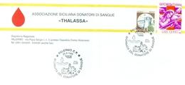 ERINNOFILIA-VIGNETTE ERINNOFILE- PALERMO-ASSOCIAZIONE DONATORI SANGUE - AVIS- THALASSA-CROCE ROSSA - Erinnofilia