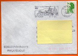 15 ST FLOUR  MUSEE POSTAL   1986      Lettre Entière N° FF 473 - Sellado Mecánica (Otros)