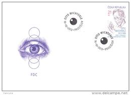 FDC 2013 : Centenaire De Otto WICHTERLE Inventeur Des Lentilles De Contact Pour Les Yeux - FDC