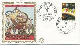 ITALIA - FDC  FILAGRANO GOLD 1973 - CARNEVALE DI VIAREGGIO - 1946-.. République