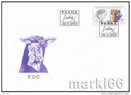 FDC 2012 : Tradition Du Timbre Gravé Tchèque Josef LIESLER - FDC