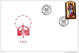 FDC 2012 : Centenaire Du Couronnement De Notre Dame De Hostyn - FDC