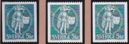 Sweden   .     Facit   .     690  V1+v2+v3     .     **    .    MNH  .   /   .   Postfis - Zweden