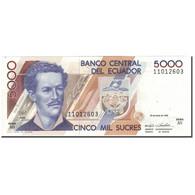 Billet, Équateur, 5000 Sucres, 1992-06-22, KM:128a, NEUF - Equateur