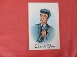 Postman  Thank You-- Note On Back  Not Mailable  Ref 3054 - Postal Services