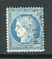Y&T N°60A- Cachet PGE - 1871-1875 Ceres