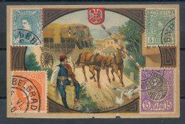 Tapioca Indien - La Poste En Serbie - Chromos