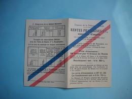 Carte Sur Emprunt De La Défense Nationale  -  Rentes Françaises  -  Notice Explicative - Actions & Titres
