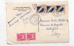 Saint Pierre Penmarch (29 Finistère) 2 Timbres Taxe 5f Sur Carte Postale 1954 (PPP14668) - Postage Due