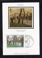 Art,Arts / Corot,le Pont De Mantes / Carte Maximum Cachet 1er Jour Paris 1977 Sur N° 1923 - Pintura & Cuadros
