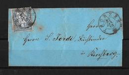 1862 - 1881 SITZENDE HELVETIA Gezähnt → Brief Thurnen Nach Kirchberg - 1862-1881 Helvetia Assise (dentelés)