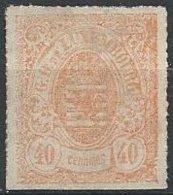 LUXEMBOURG - 40 C. De 1865/73 Percé En Lignes Colorées Neuf - 1859-1880 Armoiries