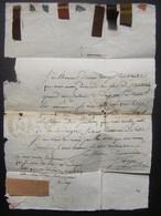 1832 Clermont Ferrand  Lettre Pour Mauriac (Cantal) Avec échantillons De Tissus ! à Voir ! - 1801-1848: Précurseurs XIX