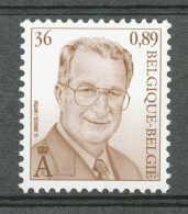 D- [154224] **/Mnh-BELGIQUE 2000 - N° 2965, 36F Brun, Albert II, Dynastie, Familles Royales.SNC. - 1993-.. MVTM