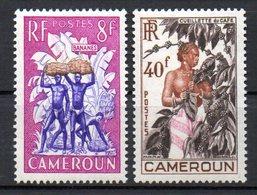 Col10 / Cameroun : N° 297 & 299 Neuf  X MH , Cote : 2,40 € - Cameroun (1915-1959)